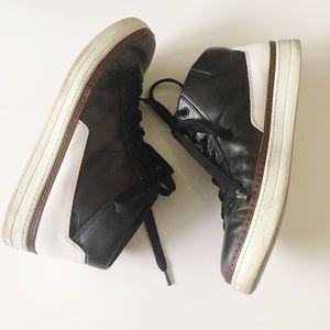 Prada Black & White Men Luxury Sneakers Size 11